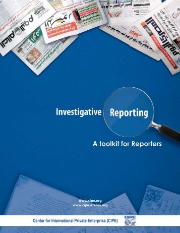 Investigative Reporting Toolkit - Center for International Private ...