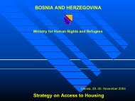 Strategy on Access to Housing BOSNIA AND HERZEGOVINA