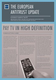 The European Antitrust Update - Fried Frank