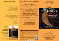 4.–6. Januar 2013 ÜBER DEN SINN DES LEBENS ... - Archiati Verlag