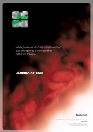 Validação do método Colilert-18/Quanti-Tray para contagem de E ...