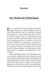 Die Macht der Ehrlichkeit - Ambition Verlag