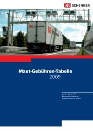 Maut-Gebühren-Tabelle 2009 - DB Schenker