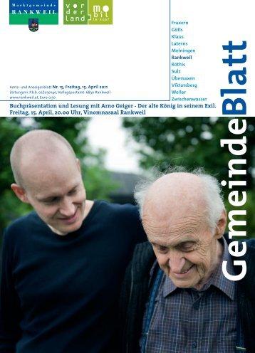 Buchpräsentation und Lesung mit Arno Geiger - Der alte König in ...