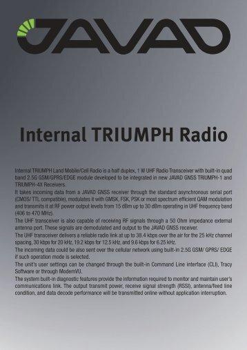 Internal TRIUMPH Radio