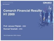 H1 2009.pdf - Comarch