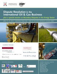 Dispute Resolution in the International Oil & Gas Business - AIPN