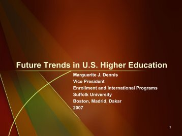 Trends in Higher Education - AACRAO