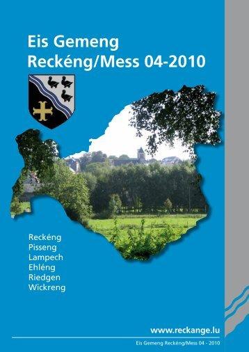 Eis Gemeng Reckéng/Mess 04-2010 - Reckange