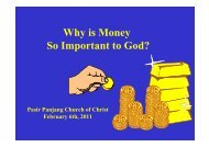 Why is Money So Important to God? - Pasir Panjang Church of ...