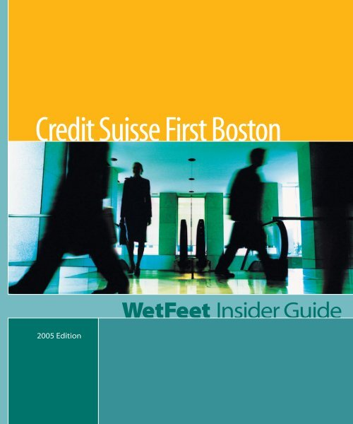 Then Check Out Credit Suisse First Boston Gymkhana