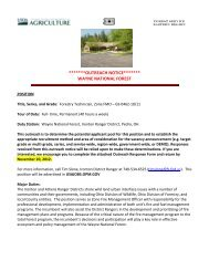 Wayne National Forest Outreach - Job Opportunities