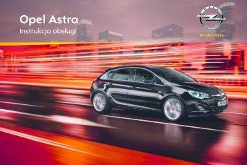 Opel Astra J 2012 – Instrukcja obsługi – Opel Polska