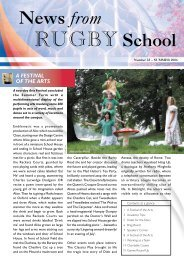 News from Rugby School