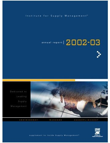 Annual Report 03.jc - Institute for Supply Management