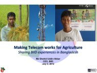 Making Telecom works for Agriculture - LIRNEasia