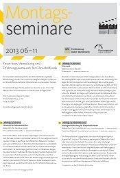 Flyer Montagsseminare 06 - Digital Content Funding – DCF