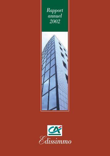 Edissimmo Rapport annuel 2002 - Haussmann Patrimoine