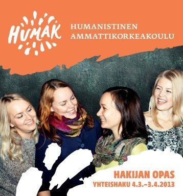 HAKIJAN OPAS - Humanistinen ammattikorkeakoulu