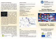 Flyer Fachtagung Deutsche Sporthochschule - Petra Kammerevert