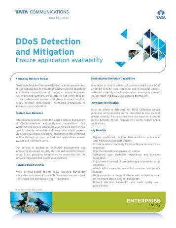 detection and mitigation of ddos attack The paper presented a technique that will easily detect and mitigate the ddos  attack and it is very easy to implement with minimum cost and.