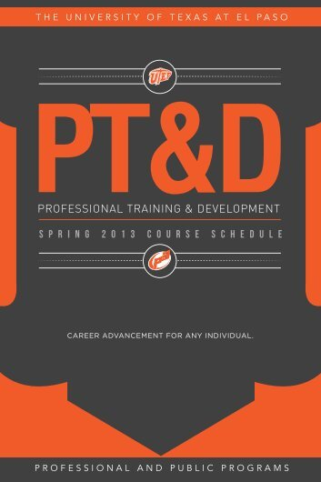 professional training & development - University of Texas at El Paso