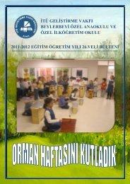 veli bülteni - İTÜ Geliştirme Vakfı Okulları