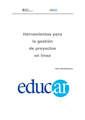 Herramientas para la gestión de proyectos en línea - Aprender en ...