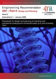 Issue 2: Amendment 1 - Energy Networks Association