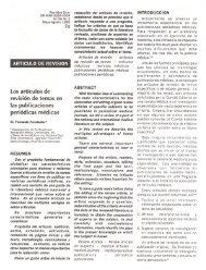 Los artículos de revisión de temas en las publicaciones periódicas ...