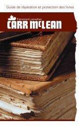 Guide de réparation et protection des livres - CARR McLEAN