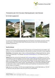 Praktisches Jahr (PJ) Famulatur Wahlstudienjahr in der Schweiz Ein ...