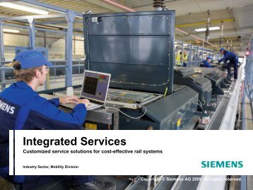 SIEMENS Integrated Services - Presentation Portfolio - Industry