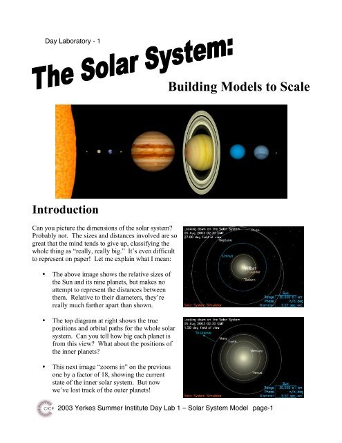 Building a Model of the Solar System - KICP