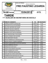 14:00 FREI FAUSTINO LEGARDA 15/04/2012 - FIBRA.