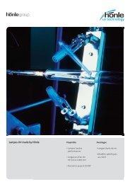 Information sur le produit Lampes UV - Dr. Hönle AG