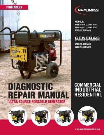 Repair manual For generac xl4000