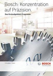 Bosch: Konzentration auf Präzision.