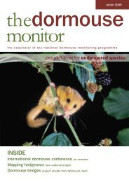 The Dormouse Monitor Autumn 2008 - People's Trust for ...
