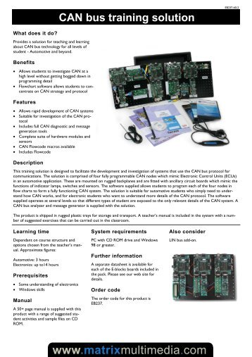 EB237-60-2 Can Bus Training Solution