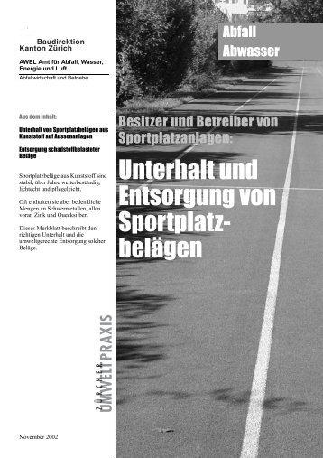 Unterhalt und Entsorgung von Sportplatzbelägen