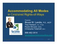 Accommodating All Modes in Constrained Right-of-Ways PedLOS