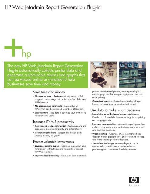 HP Web Jetadmin Report Generation Plug-In - Alsys Data