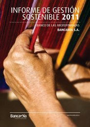 INFORME DE GESTIÓN SOSTENIBLE 2011 - Bancamía