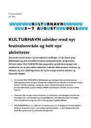 7/6 2011: Kulturhavn udvider med nyt festivalområde og nye aktiviteter