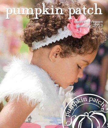 PPL Interim Report 2013 - Pumpkin Patch investor relations