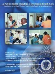 A Public Health Manual for Correctional Health Care