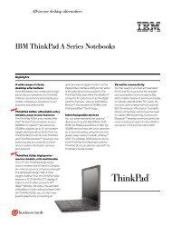 IBM ThinkPad A Series Notebooks
