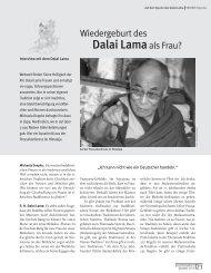 Dalai Lamaals Frau? - Tibetischer Buddhismus im Westen
