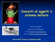 Concetti di oggetti e sistema motorio - laral